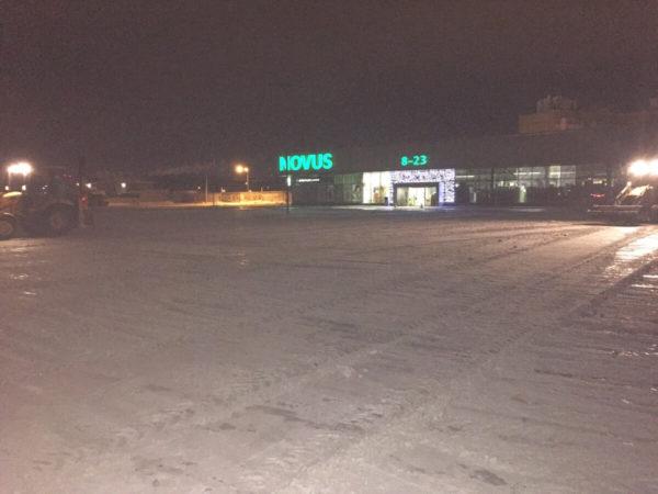 Уборка территорий от снега